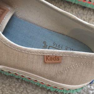 "Keds Shoes - KEDS/GOLD-METALLIC ""TRIPLE HULA"" SNEAKERS"